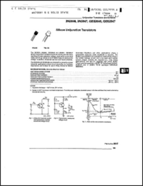 datasheet transistor ujt datasheet transistor ujt 2646 28 images 2n2646 データシート pdf list of unclassifed manufacturers