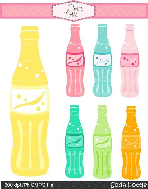 Petit Soda Pop Blue soda pop bottle clip clip digital clip instant lemon soda blue