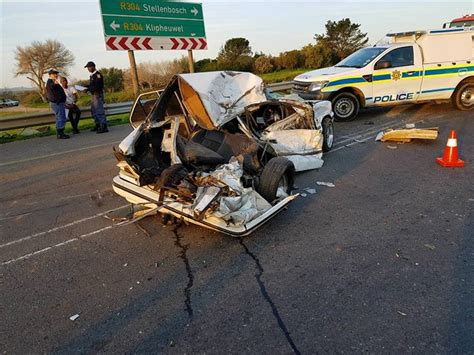 cape town  people injured  bus car collision