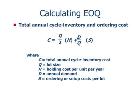annual cost of a inventory management
