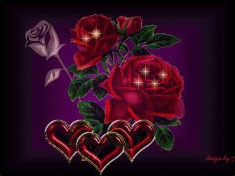 beautibul animation hearts hearts and roses roses