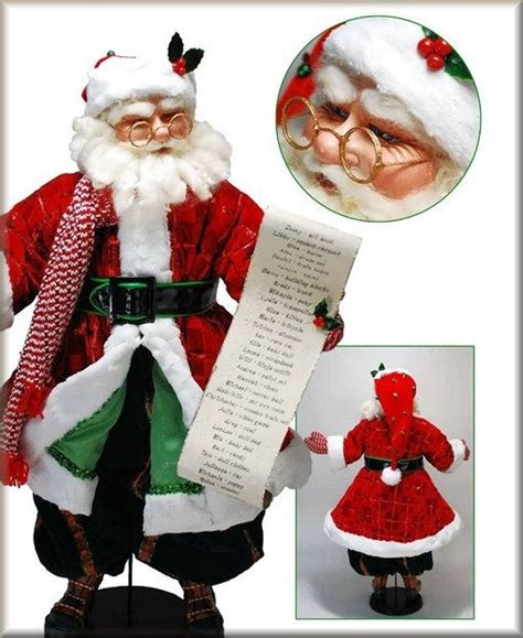 holiday creations santa doll for sale 295 best creations of the katherine collection images on papa