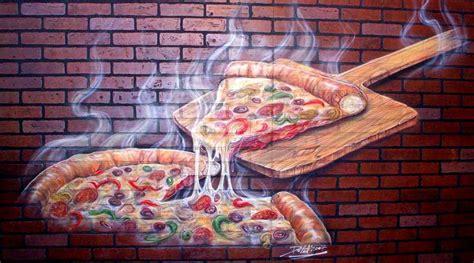 painel mural  pintado  airbrush numa parede de
