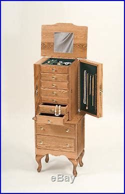 amish made jewelry armoire lancaster county pa amish made large jewelry armoire
