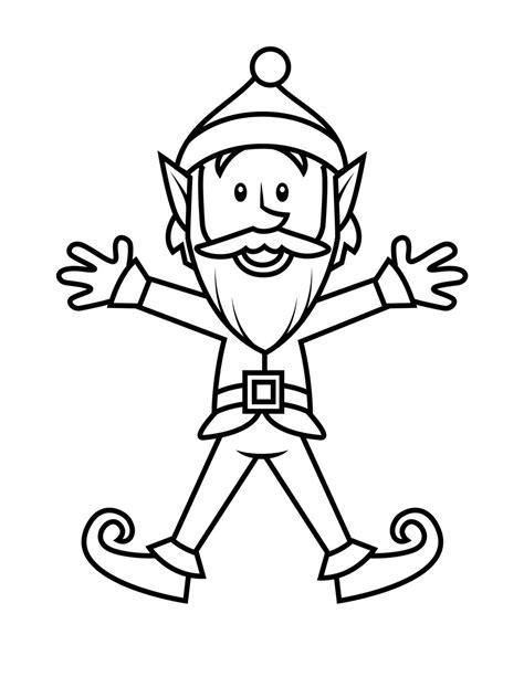 Coloring Pages For Elves | free printable elf coloring pages for kids