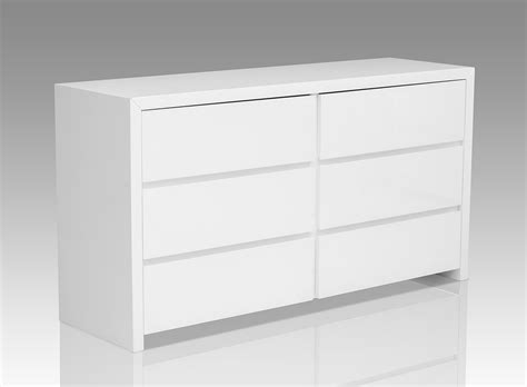 glossy white dresser bonita modern white high gloss 6 drawer dresser