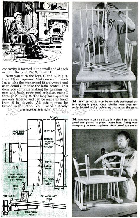 boston rocking chair plans woodarchivist
