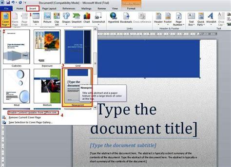 cara cepat membuat halaman pada word cepat membuat halaman cover pada word 2010