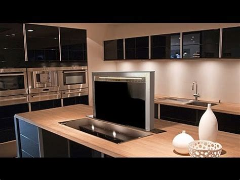 DWN Black Glass Downdraft Kitchen Extractor   Luxair