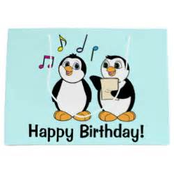 singing happy birthday cards happy birthday penguins gifts on zazzle