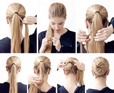 modern hairstyles easy to fix cute braided bun hairstyle tutorial emaggy