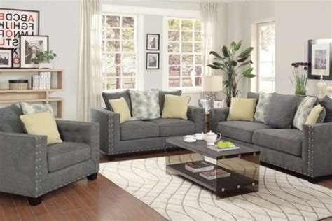 classy gray living room furniture sets