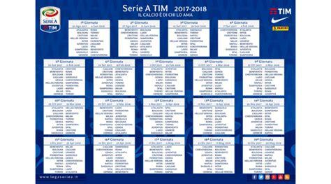 Calendario Serie A 2017 18 Calendario Serie A 2017 18 Rivivi La Diretta Tuttosport
