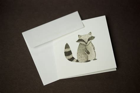 Mini Greeting Card Set racoon greeting card mini greeting cards greeting card