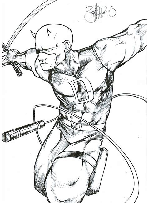 daredevil coloring pages coloring home