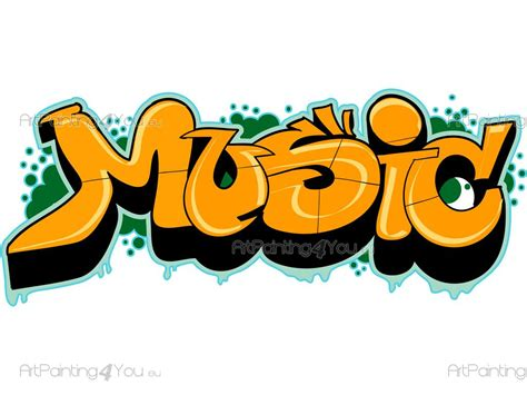 Sea Wall Murals graffiti music wall stickers quotes vdte1021en