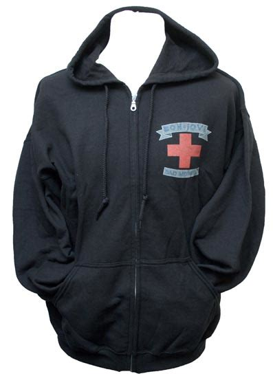 Jaket Sweater Hoodie Zipper Bonjovi bon jovi bad medicine hoodie