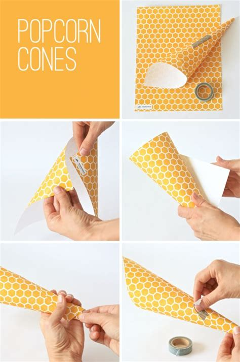 How To Make Popcorn Out Of Paper - 10 best ideas about popcorn cones on