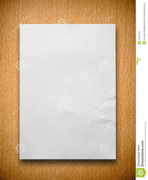 Paper From Wood - white paper on wood stock photography image 15331312