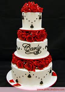 one stop wedding black and white and red wedding cakes