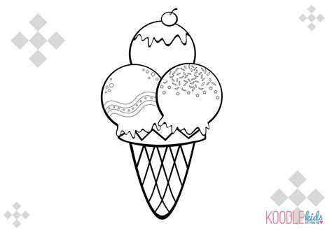coloring pages with ice cream ice cream coloring pages for kids free large images