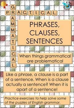 Phrase Clause Worksheet