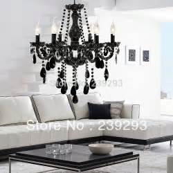 Chandelier For Living Room Free Shipping 110 240v Black Color Chandelier For Living Room In 6 Lights Height