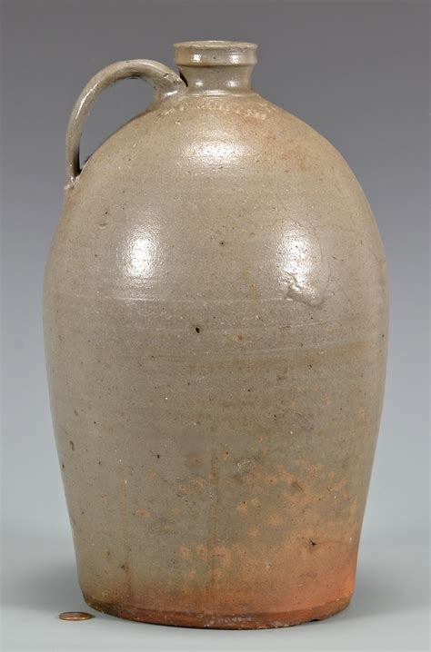 Stoneware L by Lot 138 East Tn Stoneware Jug D L Smith