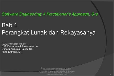 Rekayasa Perangkat Lunak 1 bab 2 rekayasa perangkat lunak 1
