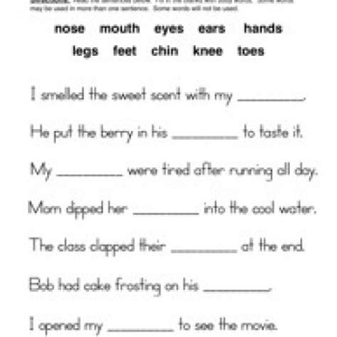 science fill in the blank worksheets parts worksheet fill in the blanks