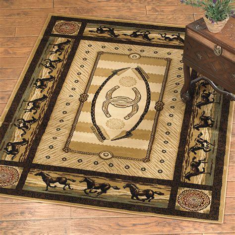 Southwest rugs 8 x 10 gallop horse rug lone star western decor