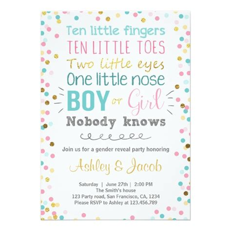 baby shower reveal gender reveal invitation baby shower boy or zazzle