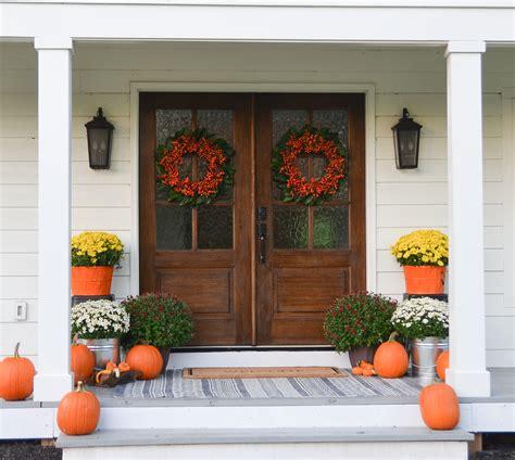 fall farmhouse front porch beneath  heart