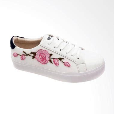 Sepatu Nike Bunga jual cde rosetta bordir bunga pink sepatu sneaker wanita putih harga kualitas