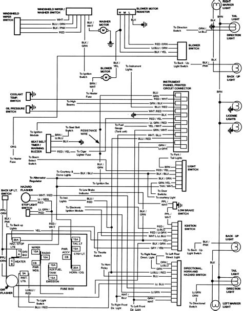 83 84 hazard exterior light wiring diagram ford forums mustang forum ford trucks