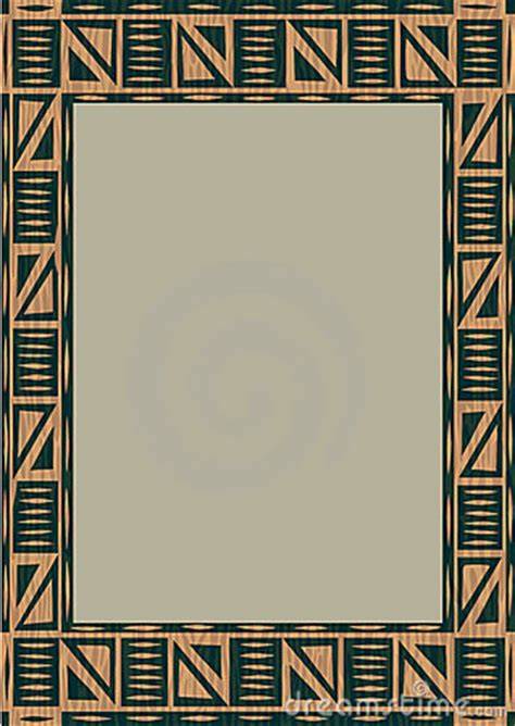 african wooden frame stock photo image