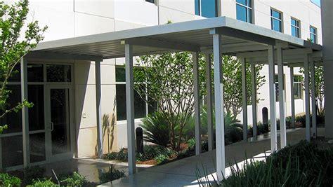 walkway awnings canopies metal aluminum walkway canopies