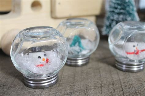 crafts snow globes waterless snow globes