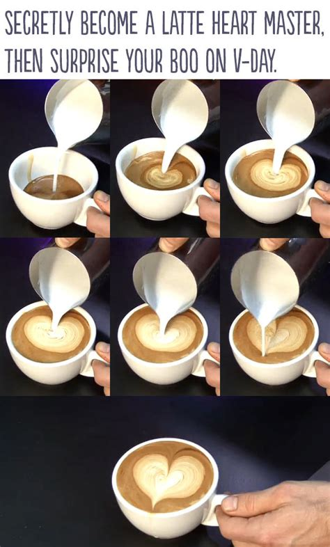 How To Make Designs On Coffee | diy latte heart pictures photos and images for facebook