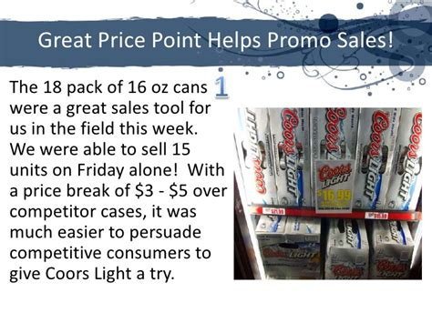 18 Pack Of Coors Light by Coors Premise Powerpoint