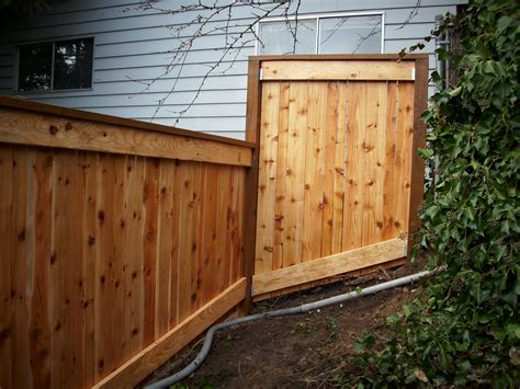 small fence small stair step fence and gate deck masters llc portland or