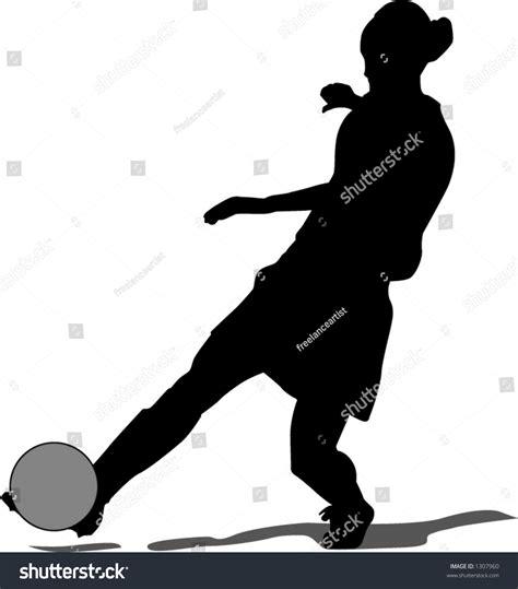 Soccer Kicking Net kicking soccerball stock vector 1307960