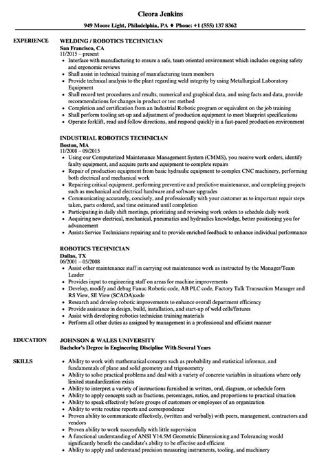 Robotics Technician Cover Letter by Computer Repair Technician Resume Blaster Software Best Font Resume Best Resume Templates