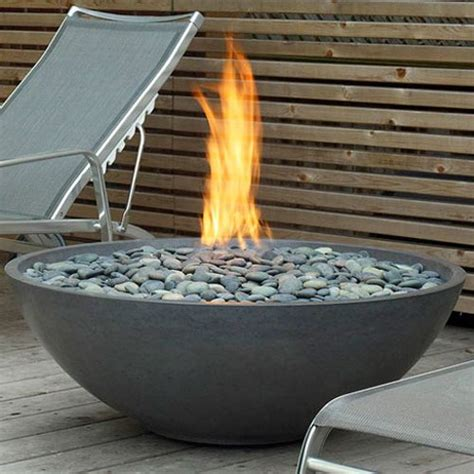 Gas Bonfire This Gas Bonfire Bowl With River Rock For The Patio