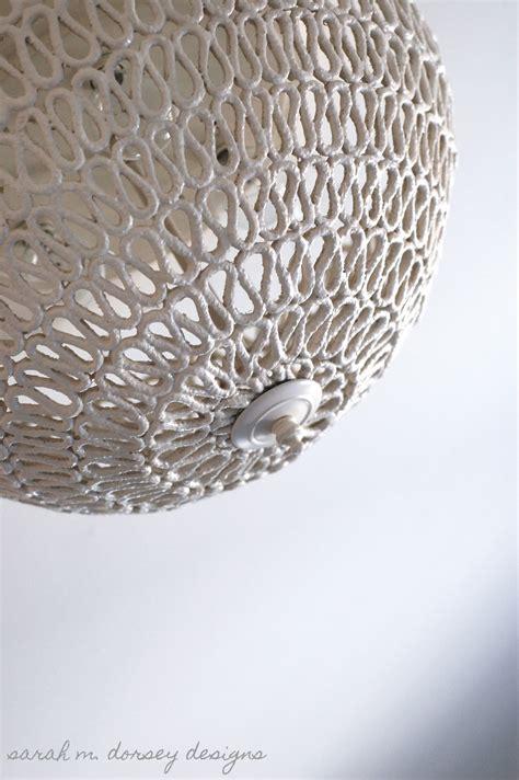 sarah m dorsey designs diy folded rope dome pendant