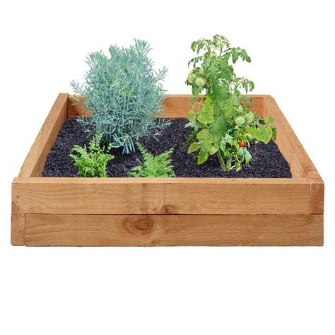 Wooden Raised Garden Bed Kits by Outdoor Essentials 3 Ft X 3 Ft Western Cedar Raised