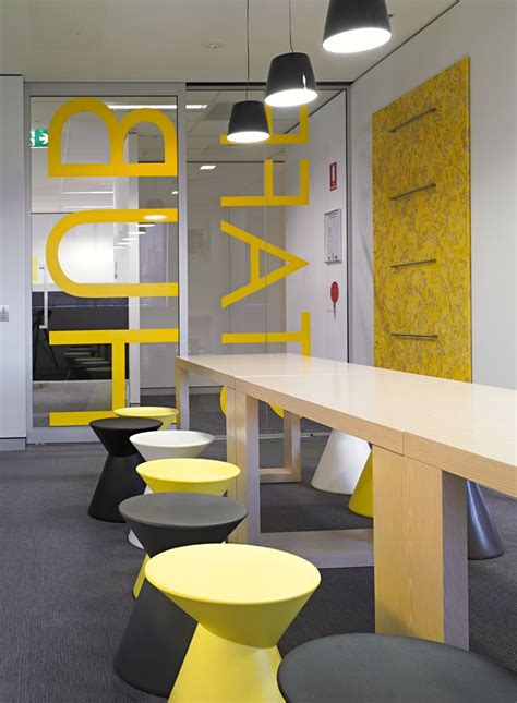 black  yellow abn headquarters office interior