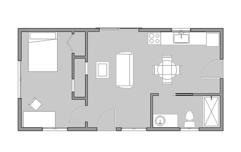 16x36 Reclaimed Space 32 X 30 House Plans