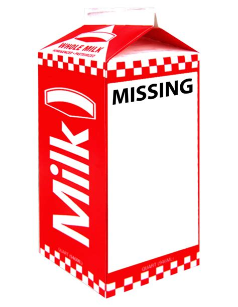 missing milk carton clipart 39