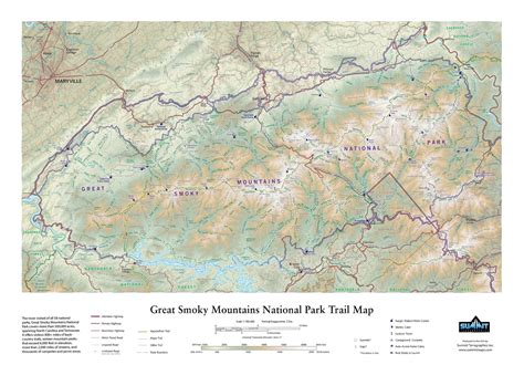 great smoky mountains national park map great smoky mountains national park in miniature summitmaps recreates 500 000 acres in 20